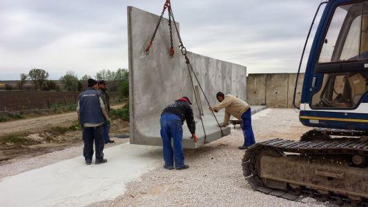 Támfalépítés előregyártott elemekből