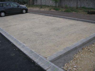Parkoló - zúzottkő alap