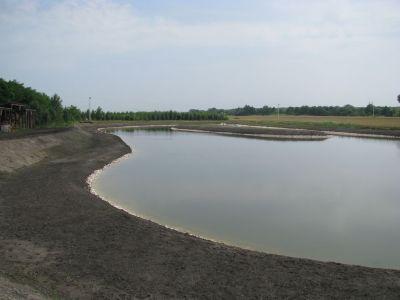 Elkészült tó